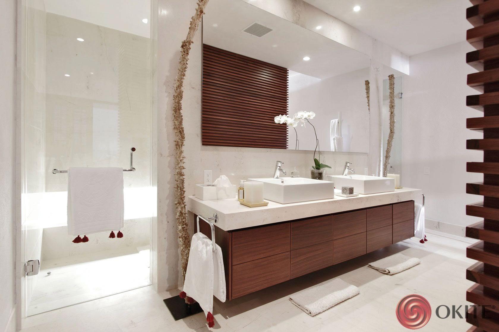 kúpeľňa z kameňa biela