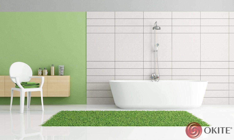 biela kúpeľňa kameň