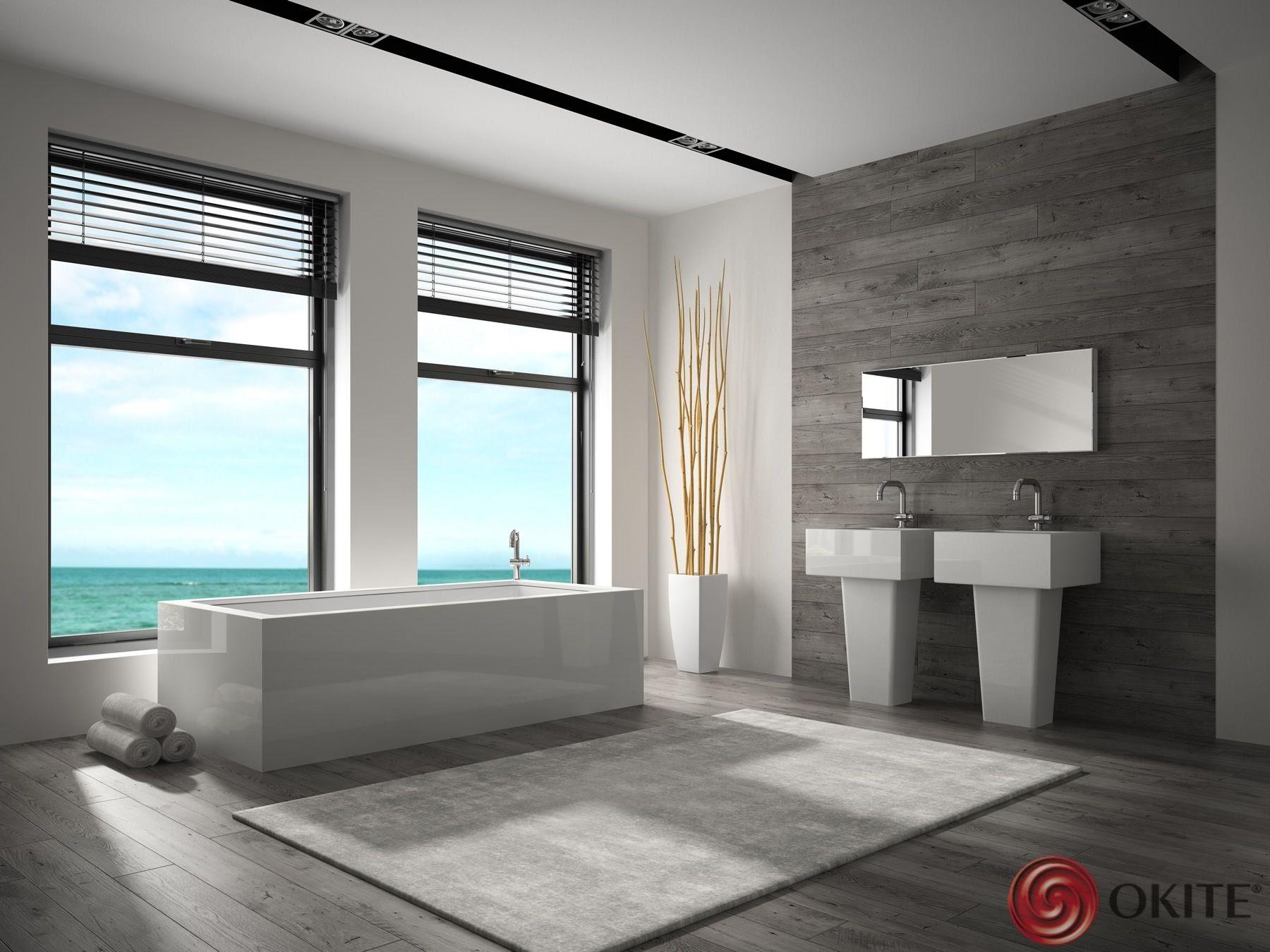 kamenná kúpeľňa sivá