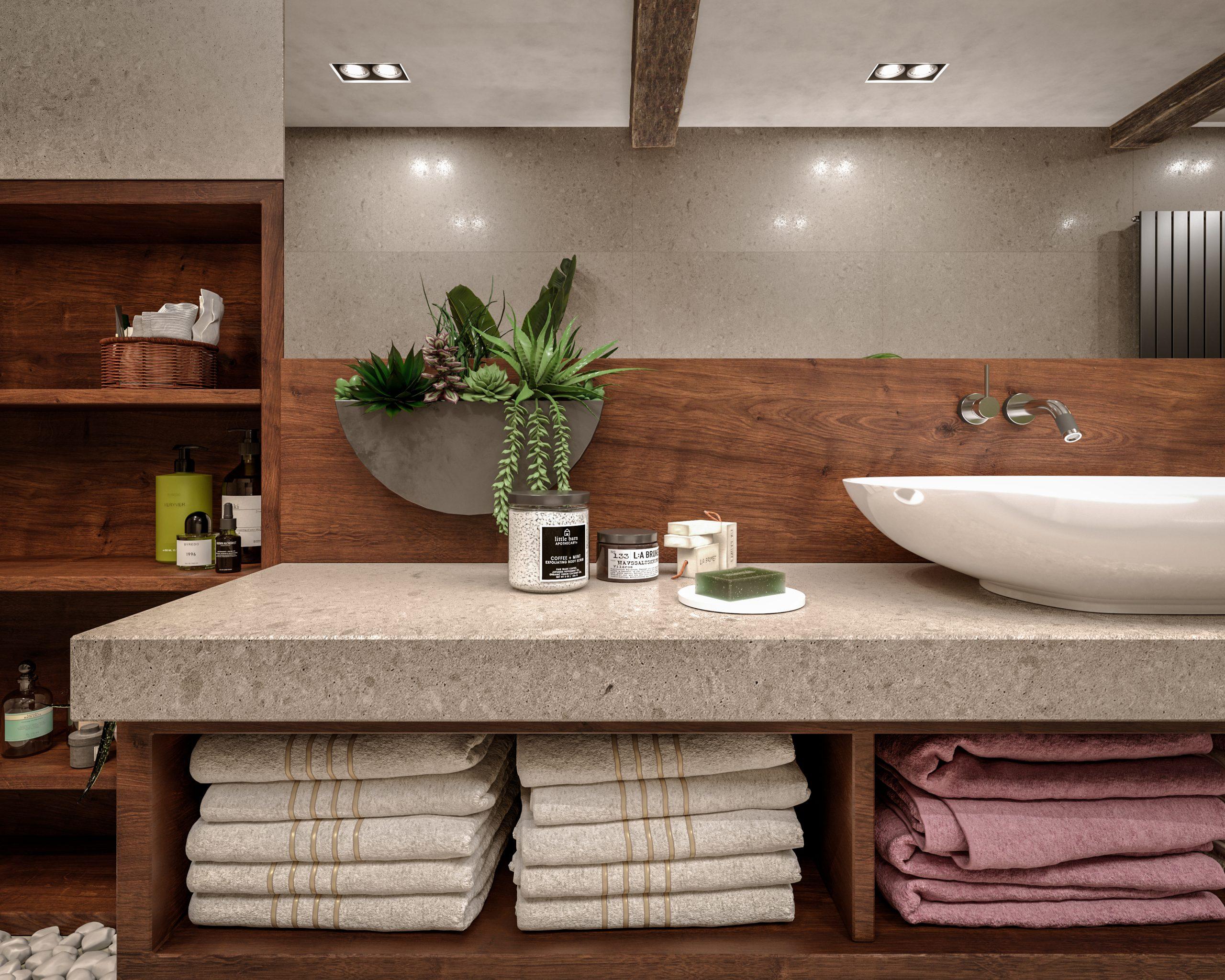 kamenná kúpeľňová doska