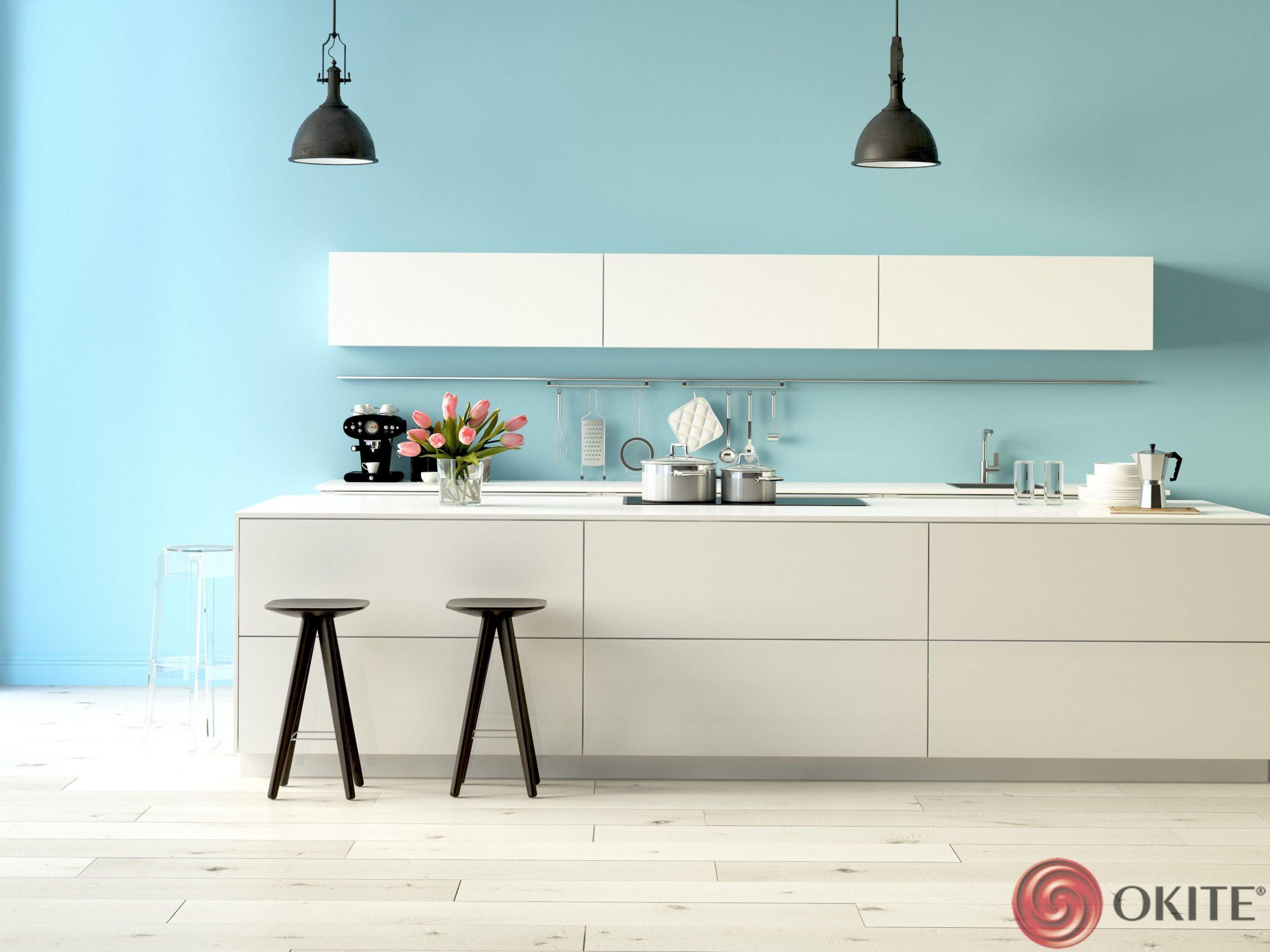 biela kuchynská linka Okite